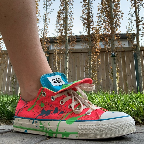 Converse All Star Lo Top in Paint Splatter